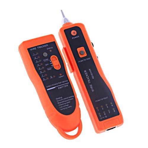 ATian RJ11 RJ45 Cat5 Cat6 Telephone Wire Tracker Tracer Toner Ethernet LAN Network Cable Tester Detector Line Finder