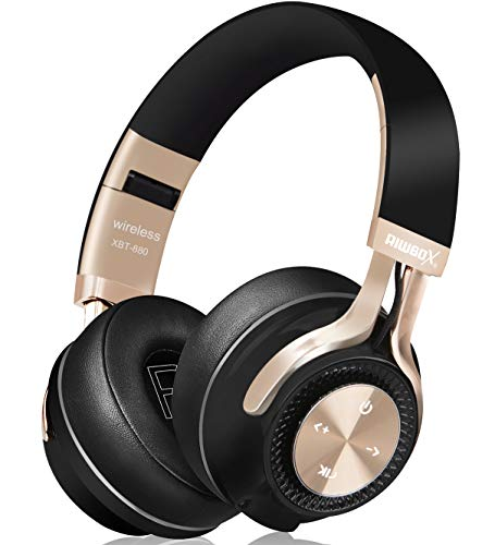 Bluetooth Headphones, Riwbox XBT-880 Wireless Bluetooth Headphones Over Ear with Microphone and Volume Control Wireless…
