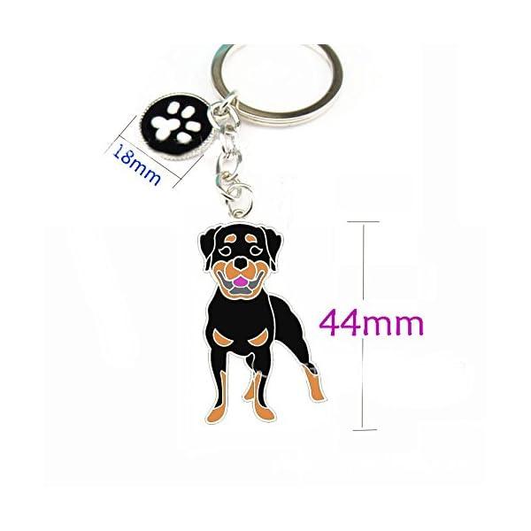BBEART Dog Keychain ring, Cool Cute Pet Dog Keyring Bag Charm Mini Metal Key Ring Keyfob 2