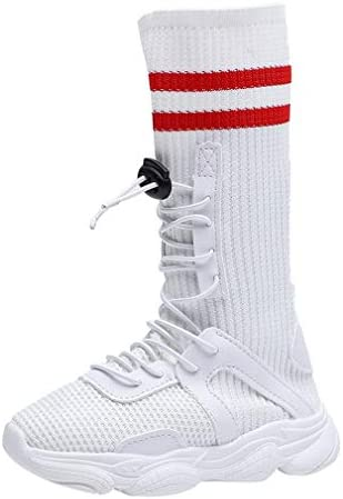 Niños Botas de Punto Elasticidad Botas de Calcetines Alto Top Zapatos Deportivos Moda Color de Empalme Niñas Botas Medio Largas Fondo Suave Botas Casuales: Amazon.es: Zapatos y complementos