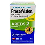Bausch & Lomb PreserVision AREDS 2 Formula Soft Gels - 120 Softgels, Pack of 6
