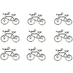 30pcs Bicycle Bike Sports Charm Pendant for DIY Crafting Key Chain Bracelet Necklace Jewelry Making Findings(AntiqueSilver)