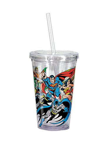 Spoontiques Superheroes Cup with Straw, -