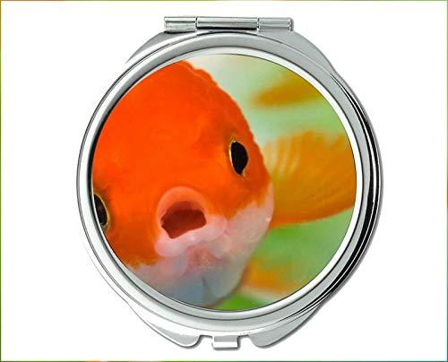 Mirror,makeup mirror,fish theme of Pocket Mirror,portable mirror 1 X 2X -