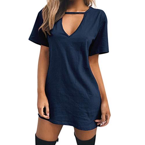 lunghe shirt T con lunga V V con maniche e a scollo per donna a scollo AWB1raWnq