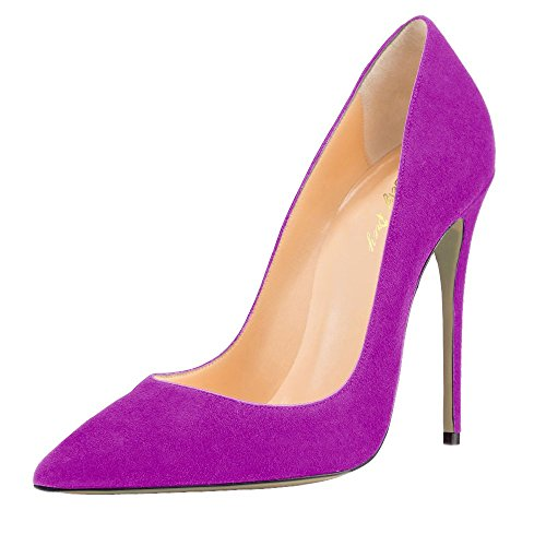Pumps for Office Fuchsia Size Shoes Women's Plus Stiletto Pointy SexyPrey Toe Court Heels Work Formal ZBqCwvPv
