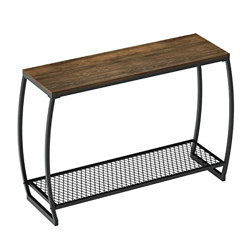 (Sofa Console Table, Vintage Entryway Table with Storage Shelf for Hallway Living Room)