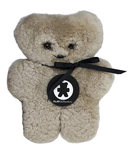 - FLATOUTbear Baby Latte 100% Australian Sheepskin Small Teddy Bear