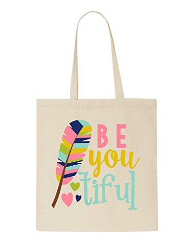 Beautiful Bag Shopper Be Design You Tote Beige Feather Tiful qSS1wf