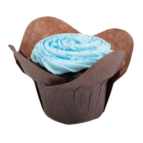 Hoffmaster Chocolate Greaseproof Lotus Cup, 2 x 2 x 2 3/4 inch - 250 per pack -- 10 packs per case.