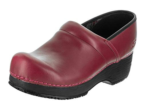 Clog Skechers Work - Skechers Work Clog SR Slip Resistant Womens Shoes Red 8
