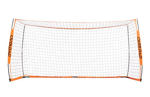 OUTROAD Portable 12x6 ft Soccer Goal - Practice Bow Style Soccer Net w/ Carry Bag (Net Professional Soccer)