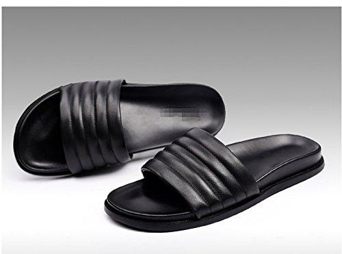 Happyshop(TM) Men's Real Leather Portable Slippers Leisure Anti-slip Sandals  A Flip Flops: Amazon.ca: Shoes & Handbags