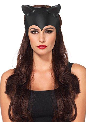 [Leg Avenue Women's Cat Ear Mask Costume Accessory, Black, One Size] (Cat Woman Mask)