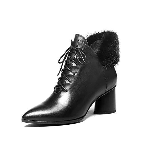 Plate Black Bottes Grande VéritablePu Taille Hoesczs En Mode Chaussures Moto Femmes forme Cuir 42 D'hiver 2019 34 Cheville De b67yfg