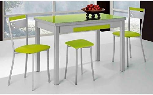 Amuebla 773. Mesa DE Cocina Extensible DE 100 X 60 CM.: Amazon.es ...