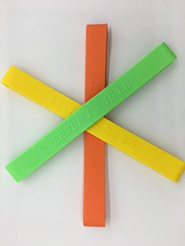 ZONSUSE Wonder Arms Bande dexercice de rechange pour fitness Vert 11,3 kg Jaune 15,9 kg Orange 15,9 kg