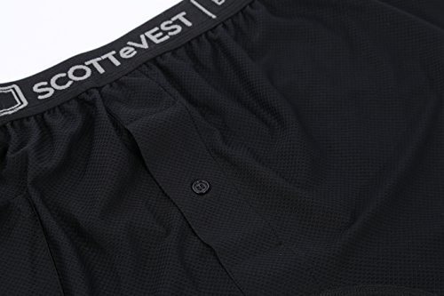 SCOTTeVEST Travel Boxers - Black, Large