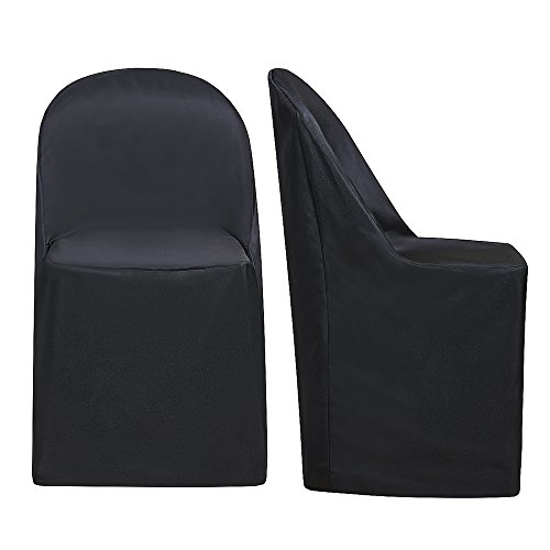 Surmente Polyester Folding Chair Cover for Weddings, Banquets, or Restaurants (6, ()