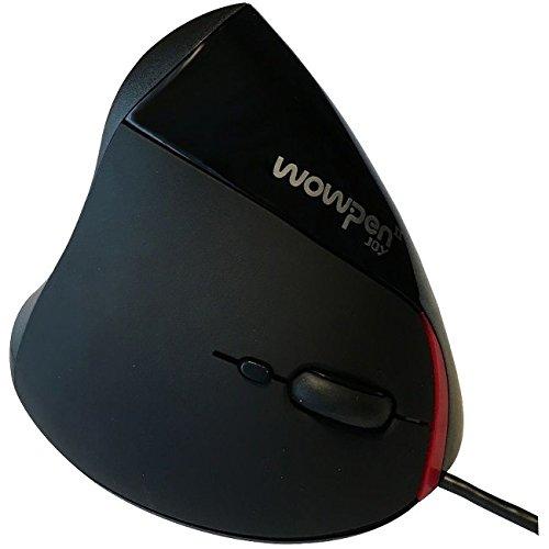 Wow Pen Joy WP-012-BK-E Vertical Ergonomic Optical Mouse, Right Hand (Black)