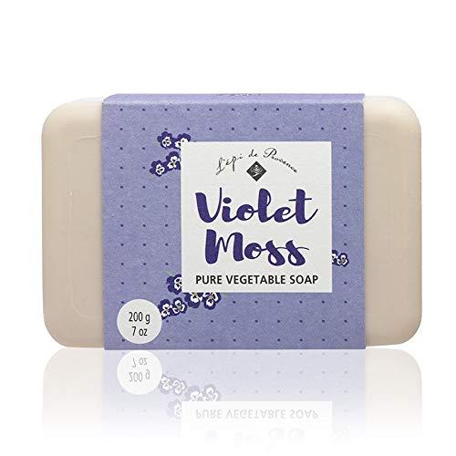 (4 Bars of L'epi de Provence Triple Milled Violet Moss Shea Butter Vegetable Soaps from France 200g)