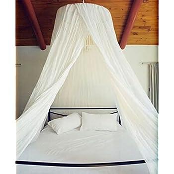 Amazon Com Dreamma Elegant White Round Bed Canopy