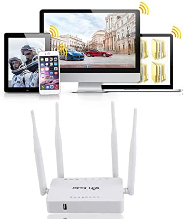 alicenter (TM) zbt-we1626 WiFi Router con 4 antenas mejorar ...