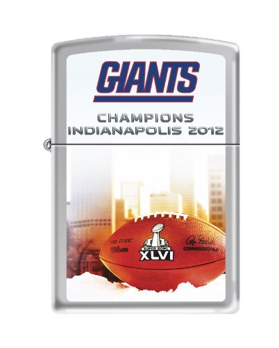 New York Giants NFL Zippo Lighter - SB XLVI Color