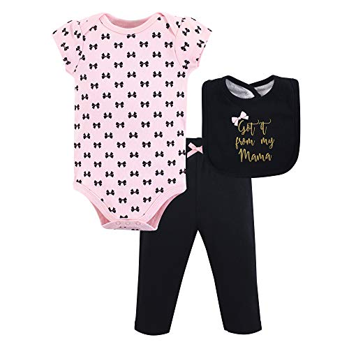 Little Treasure Unisex Baby Bodysuit Pant and Bib