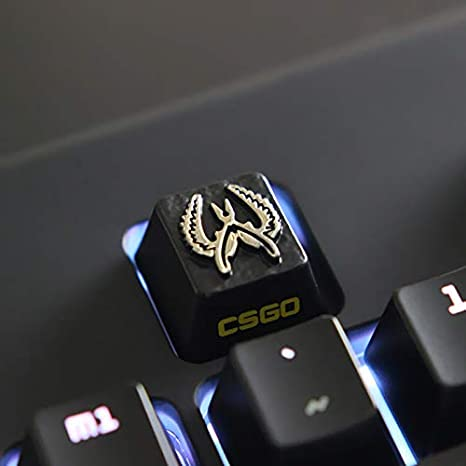 All Gaming Keycaps DIY Metal Keycap Stereo Embossed Personality Keycap for  Cherry Switches Mechanical Keyboards (5)