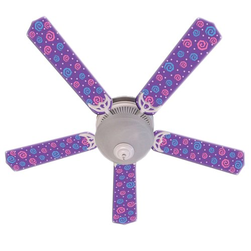 """Ceiling Fan Designers Ceiling Fan, Kids Purple Party Pops, 52"""" from Ceiling Fan Designers"""