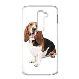 Basset Hound 001 LG G2 Cell Phone Case White TPU Phone Case RV_655972