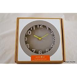 Mara Mi Wall Clock, Gray Rubber Modern - NEW IN BOX