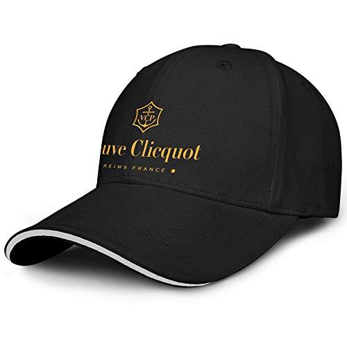 Heart Wolf Veuve-Clicquot-Logo- Mens Washed Cap Hat Mesh Baseball Cap Tennis Cap Trucker Hat Bucket Hat Dad Cap