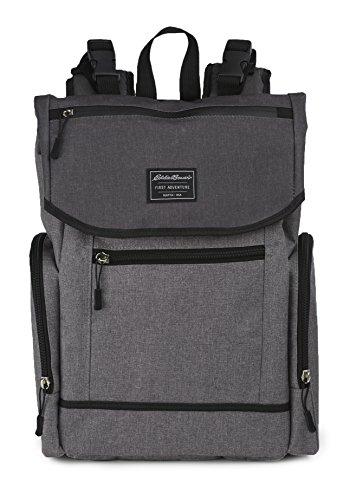 Eddie Bauer Storage (Eddie Bauer Back Pack Diaper Bag, Laminate Grey)