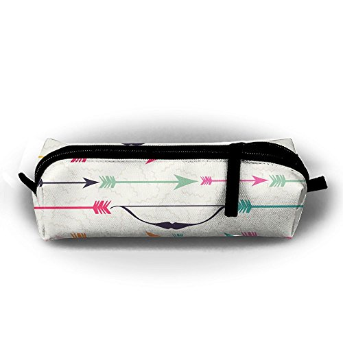 Bow Pen - MOOTIL Bow Arrow Indian Boho Style Printing Portable Pen Holder Stationery Pencil Pouch Cosmetic Bags