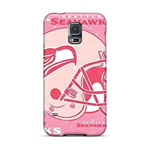 JohnPrimeauMaurice Samsung Galaxy S5 Protective Cell-phone Hard covers cases for Merry Christmas and New Year Unique Design Fashion Seattle Seahawks Skin [pQO1646aRUS]