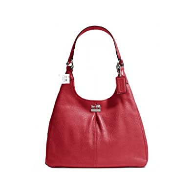 Amazon.com: Coach Leather Madison Maggie Hobo Shoulder Bag 21225M ...