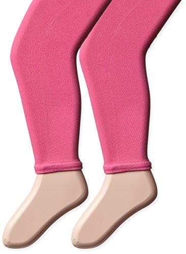 Country Kids - 2 pares de pies de microfibra para niña, Chicle, 6-8 Años