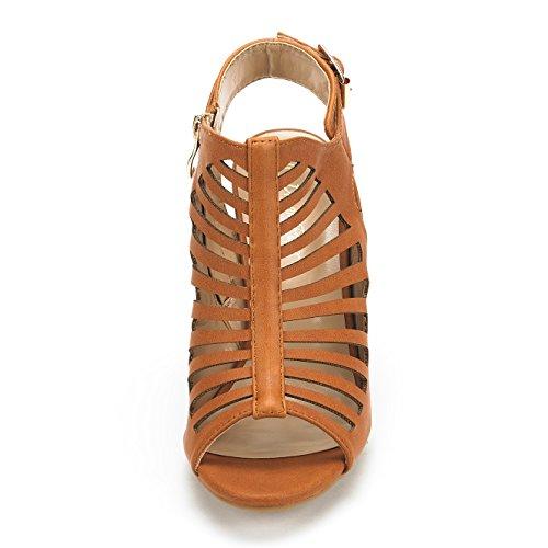 Paio Di Scarpe Da Donna Mumbai Mid Sandalo Con Tacco Grosso Sandali Tan Pu