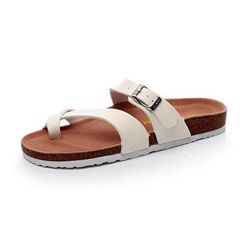 CN36 Beach UK4 Fashion Taille Flip Pantoufle EU36 Tongs Liège Glisser Summer Blanc Cool Blanc Shoes Demi Femme Couleur Flop Xy® Sandales cw4qCHxz14
