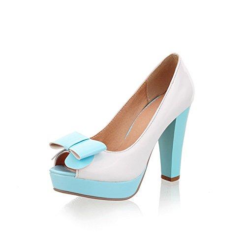 Balamasa Womens Open Toe Pull-On Assorted Colors High-Heels Pumps-Shoes LightBlue CvuLP8GU
