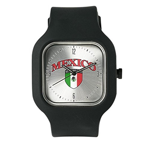Black Fashion Sport Watch Mexico Numero Uno Mexican - De Numero Mexico
