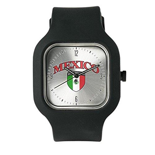 Black Fashion Sport Watch Mexico Numero Uno Mexican - De Mexico Numero