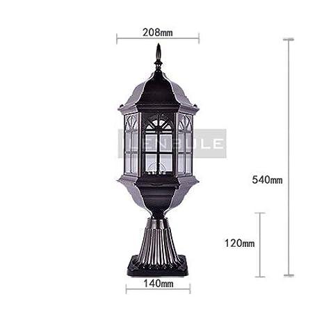 Amazon.com: QT - Lámpara de mesa de cristal para exteriores ...