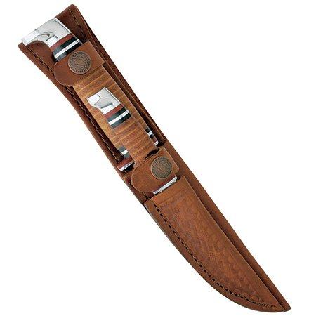 Knife 2 Usa Pocket Blade (Case Two-Knife Leather Hunter Set)