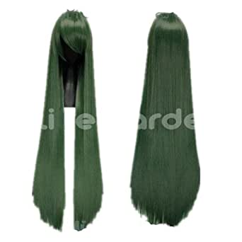 Dark Green Long Straight Cosplay Wig Sailor Moon Costume Wigs lacefront wig party wig Lacefront Wig