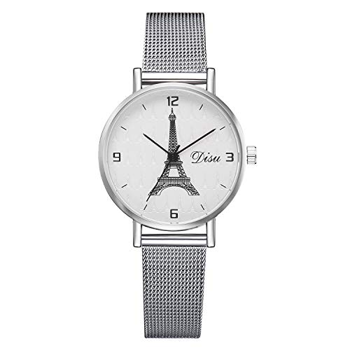 - Londony ✡ Women's Grant Quartz Stainless Steel and Leather/Mesh Chronograph Watch with Love Knot Bracelet Gift Fashion