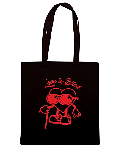 T-Shirtshock - Bolsa para la compra FUN0024 02 05 2014 Love Is Blind T SHIRT det Negro