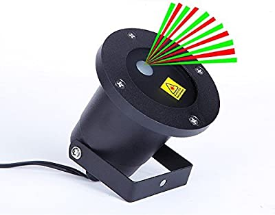 As seen on TV - Outdoor Weatherproof Red and Green Laser Light with Remote, Star Shower Light with Timer for Stage shows, Concerts, Wedding, Reception, DJ Disco. Birthday, Garden Decoration Lighting